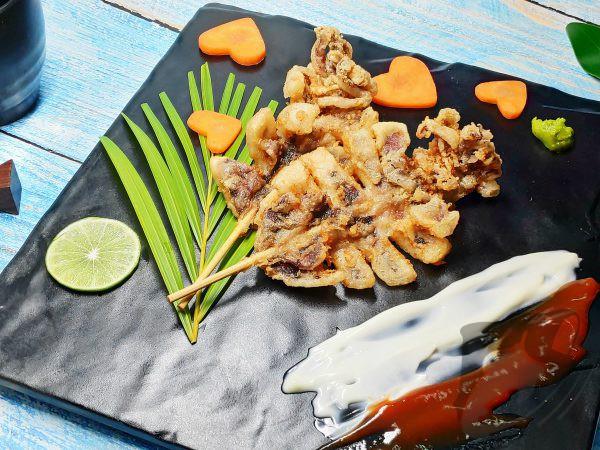 Squid Sugata Kushi Karaage