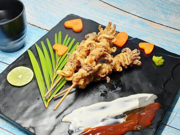 Squid Tentacle Skewer Karaage